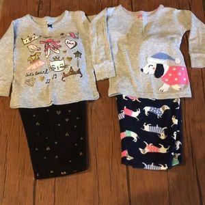 Carter's Two Piece Fleece Pajama Bundle